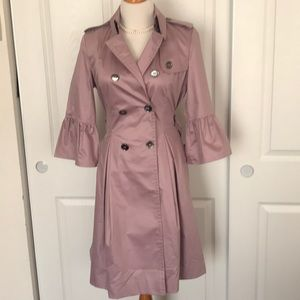 Burberry limited edition lilac ruffle trench